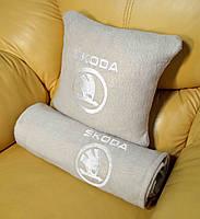 """Автомобильный плед в чехле с вышивкой логотипа """"Skoda """"NEW, фото 4"""