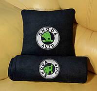 """Автомобильный плед в чехле  с вышивкой логотипа """"Skoda"""", фото 2"""