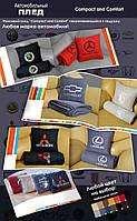 """Автомобильный плед-подушка с вышивкой логотипа """"TESLA"""" цвет на выбор, фото 3"""