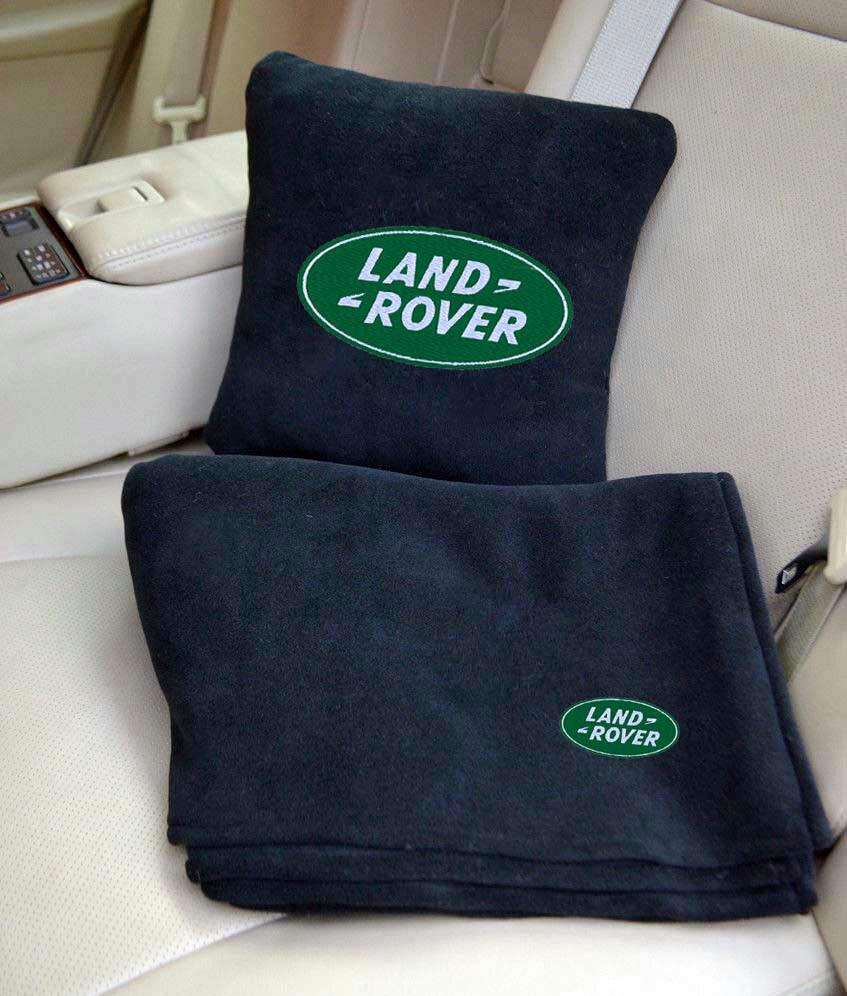 """Автомобильный плед в чехле с вышивкой логотипа """"Land Rover"""""""