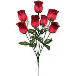Букет искусственных роз в бутоне, 42см (301), фото 2