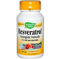 Ресвератрол (Resveratrol), Nature's Way, 37.5 мг, 60  капсул