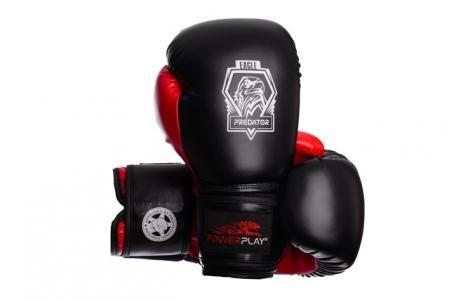 Боксерские перчатки PowerPlay 3002 черно-красные 10 унций