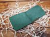 Зажим для денег из натуральной кожи ручной работы цвет зеленый, фото 3
