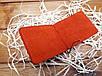 Зажим для денег из натуральной кожи ручной работы цвет красный, фото 3