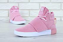 Женские кроссовки Adidas Tubular Invader Strap Pink, фото 3