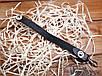 Брелок Gutalin из натуральной кожи ручной работы на кнопке с карабином Италия цвет черный , фото 2