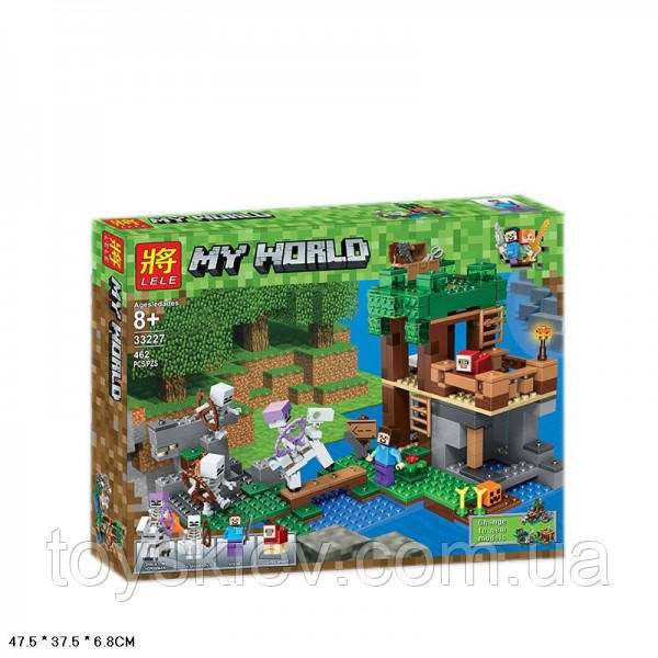 "Конструктор Lele 33227 My World Майнкрафт Minecraft ""Нападение армии скелетов"" 462 детали"