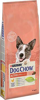 Сухой корм Dog Chow Active для активных и рабочих собак с курицей, 14 кг