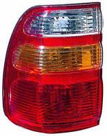 Фонарь левый Toyota Land Cruiser J100 (-04) бело-желтый внешний (DEPO). 212-19B6L-A