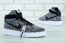 Чоловічі кросівки Nike Air Force 1 High Just Do It Pack Black, фото 3