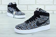 Чоловічі кросівки Nike Air Force 1 High Just Do It Pack Black, фото 2