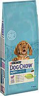 Dog Chow Puppy Lamb для щенков с ягненком, 14 кг