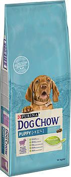 Сухой корм Dog Chow Puppy для щенков с ягненком, 14 кг