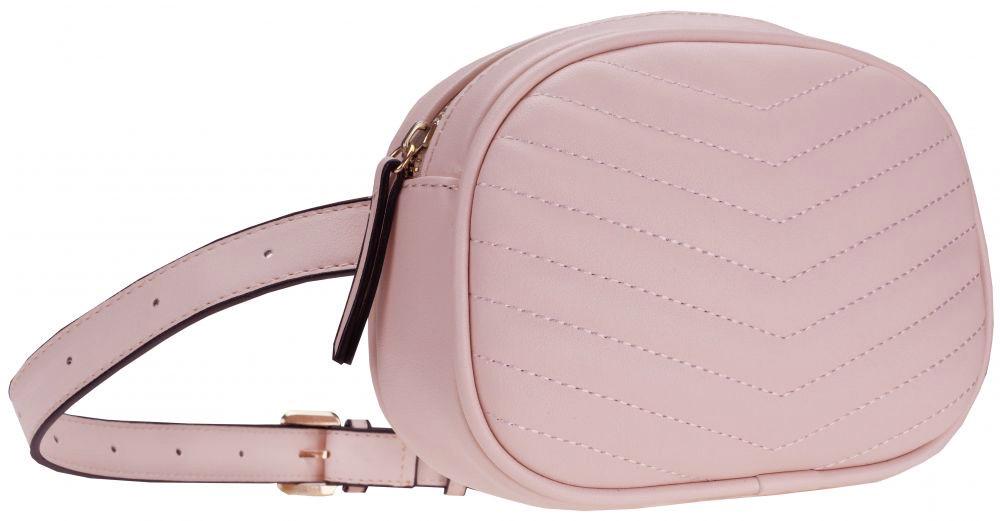 Модная женская маленькая сумка на пояс розового цвета, польский бренд BB231