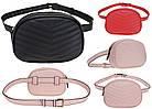 Модная женская маленькая сумка на пояс розового цвета, польский бренд BB231, фото 7