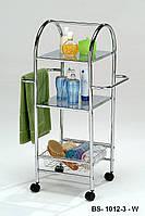 Мобильный стеллаж для ванной комнаты, стойка для полотенец в ванную, стойка для хранения на балкон на 2 полки