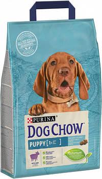 Сухой корм Dog Chow Puppy для щенков с ягненком, 2,5 кг
