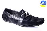 Мужские мокасины intershoes 13l316 черные   летние