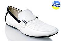 Мужские туфли стиля джинс intershoes l11220 белые   летние , фото 1