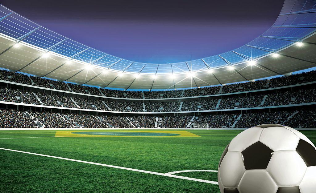 Buy Mural 3D Football Stadium and Ball Wall Mural