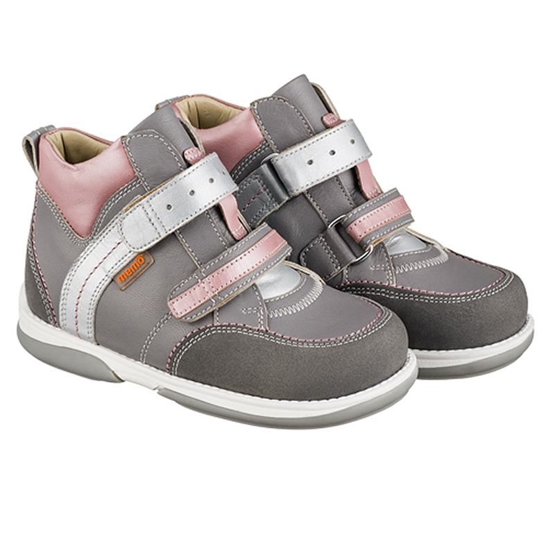 Memo Polo Серо - Розовые ― Ортопедические кроссовки для детей 30