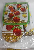 Набор прихватка, рукавичка и полотенце Яблоки