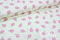 Ткань сатин Мороженное розовое, фото 1