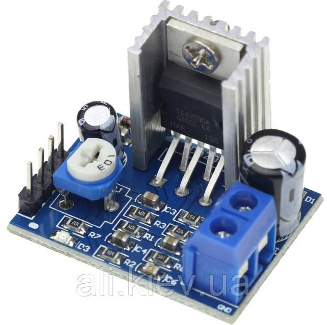 Усилитель моно TDA2030A 1*18W, 6-12V плата модуль