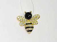Серебряная подвеска Пчелка с фианитами и позолотой. Артикул П4ФО/1116, фото 1