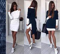 Женское платье-двойка ассиметрия. Разные цвета, размеры: 42, 44, 46, 48, фото 1