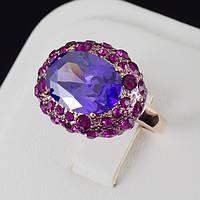 Восхитительное кольцо с кристаллами Swarovski, покрытие золото 0493, фото 1