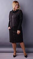 Платье прямого кроя  Таша графит меланж , фото 1