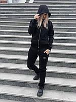 Женский спортивный костюм Philipp Plein D5604 черный зимний