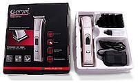 Аккумуляторная машинка для стрижки волос и бороды Gemei GM-657, фото 1