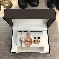 Подарочный комплект Michael Kors часы/ браслет/ сережки 19215