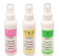 Жидкость для снятия нарощеных волос 150 мл. (роза/яблоко/лимон)
