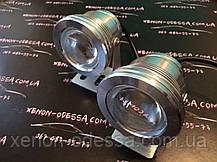 Алюминиевый водонепроницаемый фонарь 8W COB LED с линзой (серебристый), фото 2
