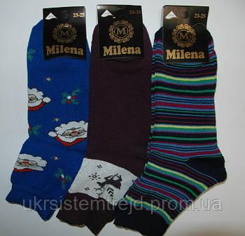 Носки женские махровые Milena 23-25 размер 12 пар уп 7003