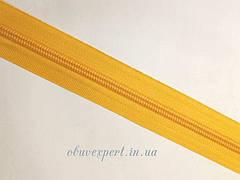 Молния ОБУВНАЯ рулонная № 7, цв. желтый