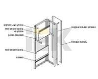 Монтажная панель 500х690 (оцинк), на уголки для КСРМ(2 шт)