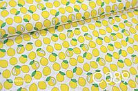 Ткань сатин Лимоны