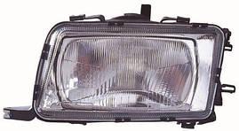 Фара правая Audi 80 91-94 Н4 механический/электрический корректор (DEPO). 441-1131R-LD-E