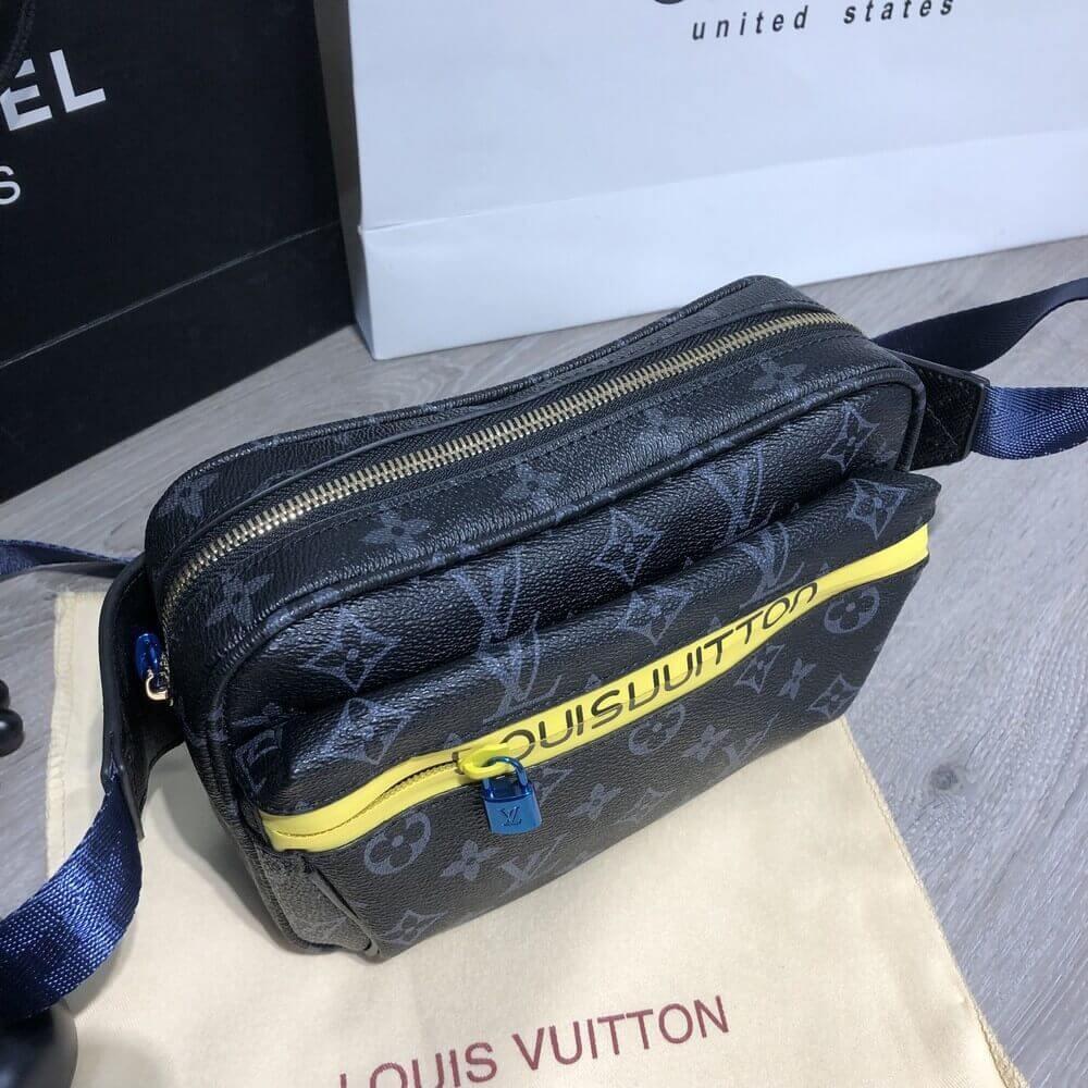 4f806de36db9 Сумка Louis Vuitton 19170 на пояс серо-черная - купить по лучшей ...