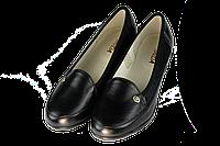 Женские классические кожаные туфли  mida 21358ч черные   весенние , фото 1