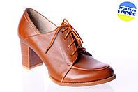 Женские классические туфли на каблуке kolari 5016 коричневые   весенние , фото 1