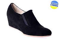 Женские женские туфли на платформе kolari 5027 чёрные   весенние , фото 1