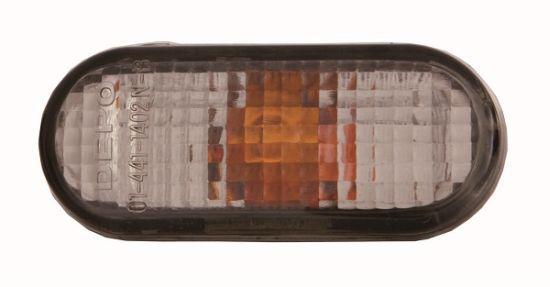 Указатель поворота левый=правый белый овальный Seat Ibiza, Inca, Cordoba (DEPO). 441-1402N-BU
