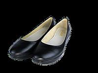 Женские кожаные туфли kolari 1230 черные   весенние