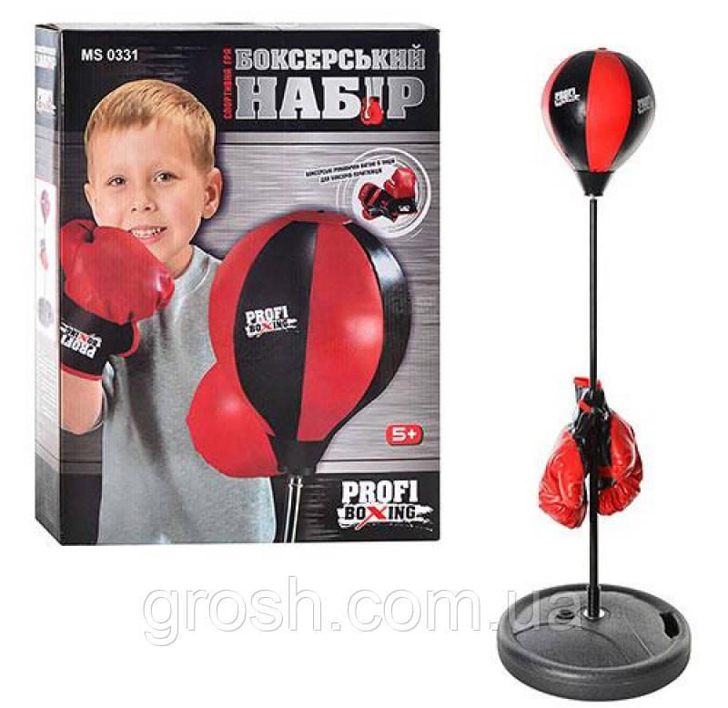 Боксерский набор - перчатки, груша на стойке 90-110 см